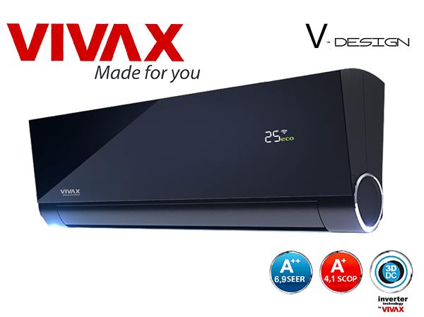 VIVAX V-DESIGN 3,5 kW Ionizátor WiFi Ready, dizajnová jednotka ACP- 12CH35AEVI – Whirlon